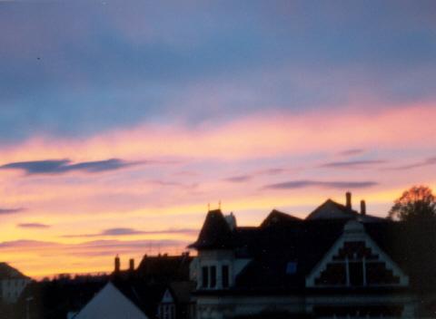 Sonnenuntergang über ABG