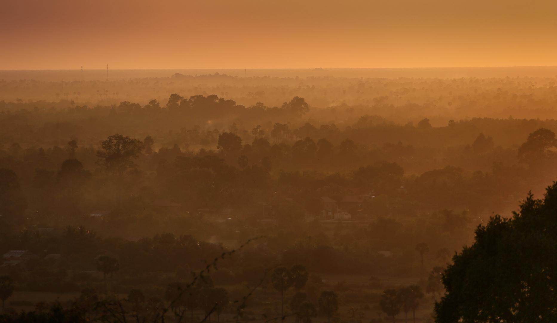 Sonnenuntergang über Angkor
