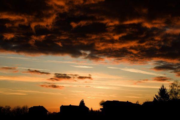 Sonnenuntergang über Bad Abbach