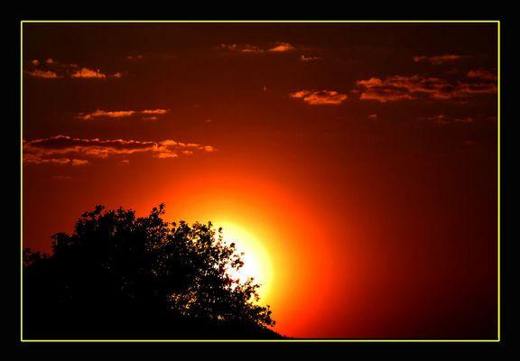 Sonnenuntergang über Bad Honnef