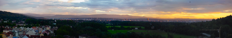 Sonnenuntergang über Basel