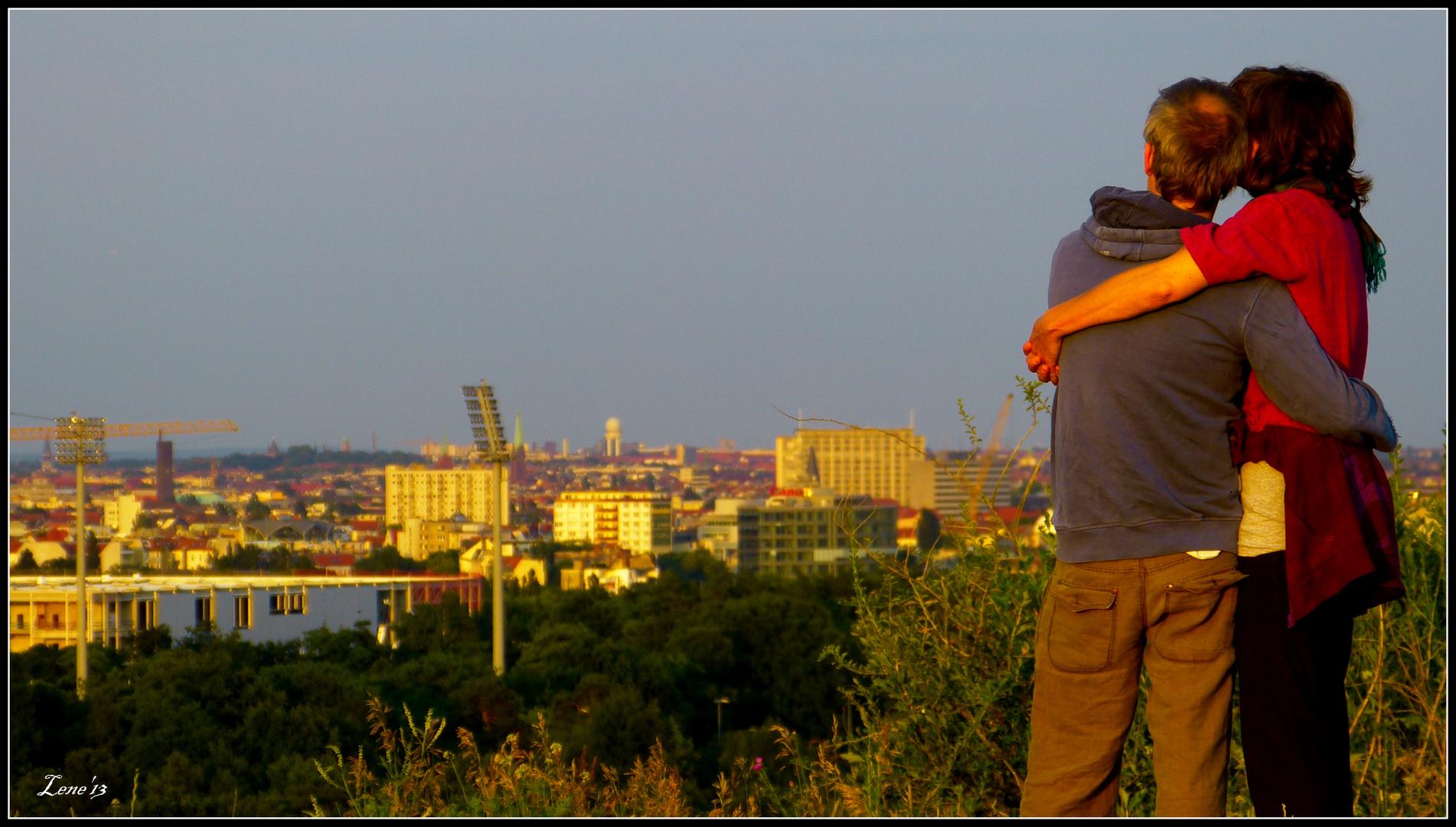 Sonnenuntergang über Berlin genießen..