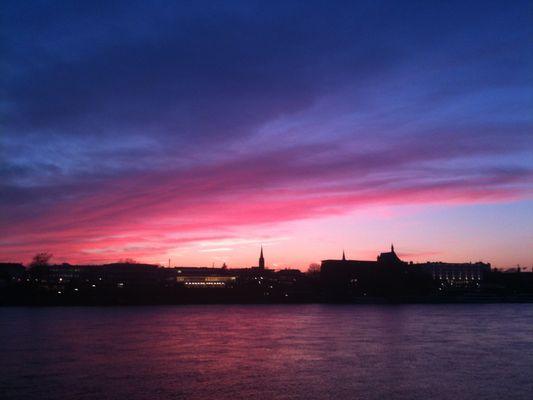 Sonnenuntergang über Bonn