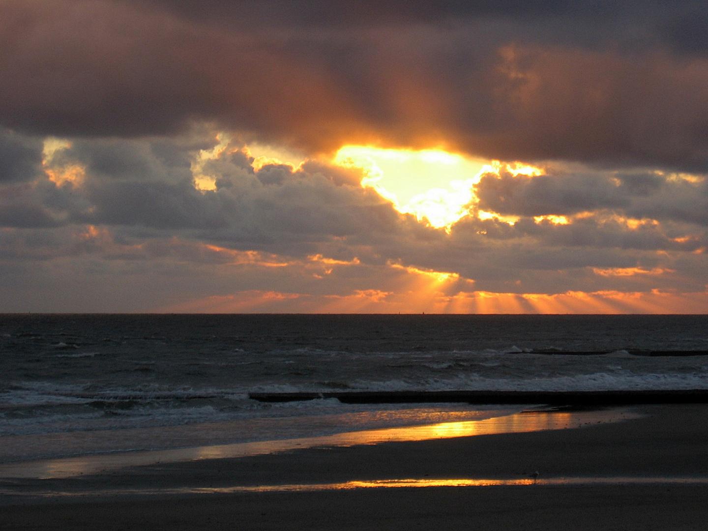 Sonnenuntergang über Borkum