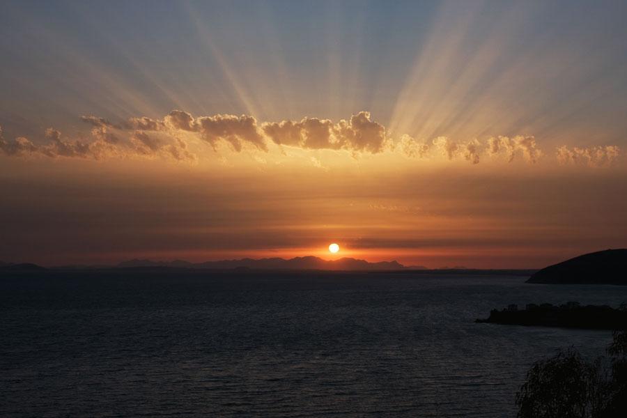 Sonnenuntergang über Cagliari