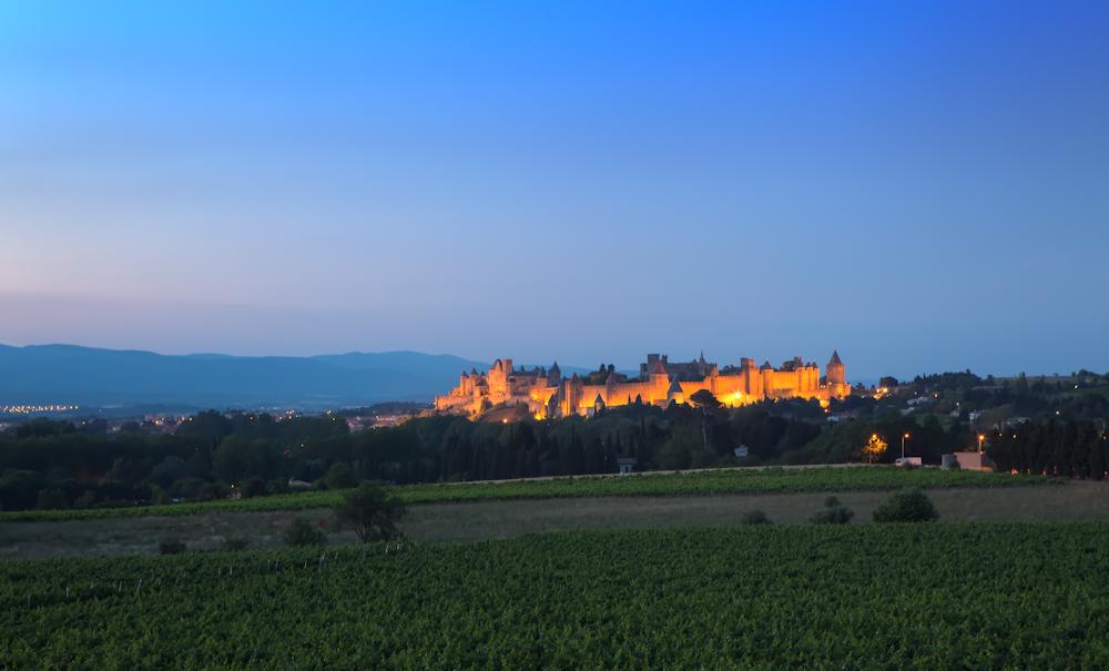 Sonnenuntergang über Carcassonne
