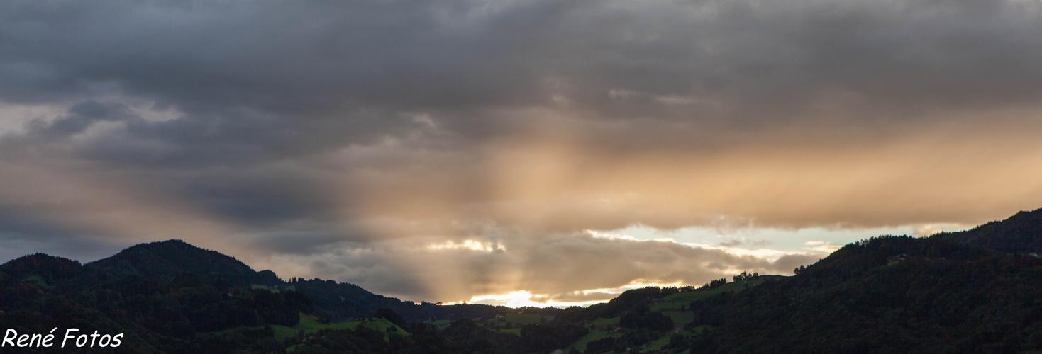 Sonnenuntergang über dem Appenzellerland