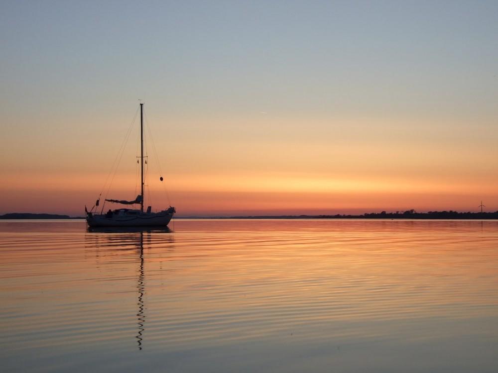 Sonnenuntergang über dem Augustenborgfjord