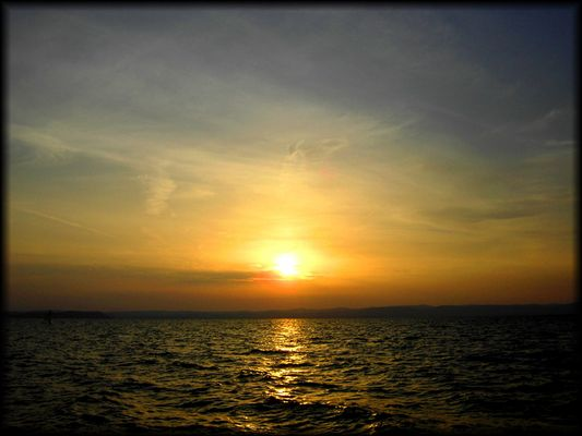Sonnenuntergang über dem Balaton