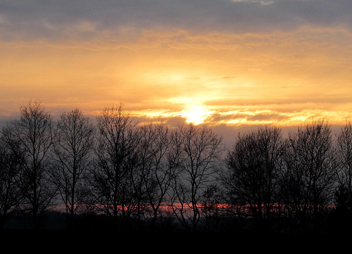 Sonnenuntergang über dem Basbecker Moor