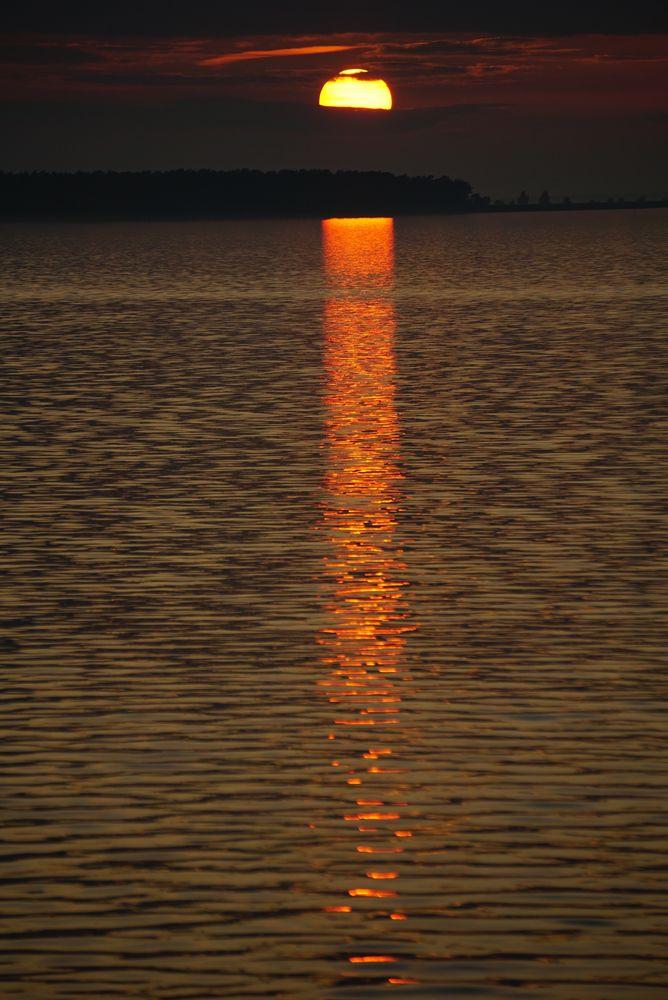 Sonnenuntergang über dem Bodden
