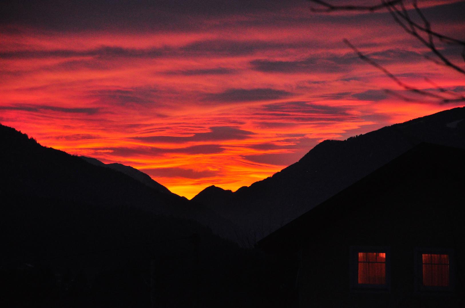 Sonnenuntergang über dem Dobratsch