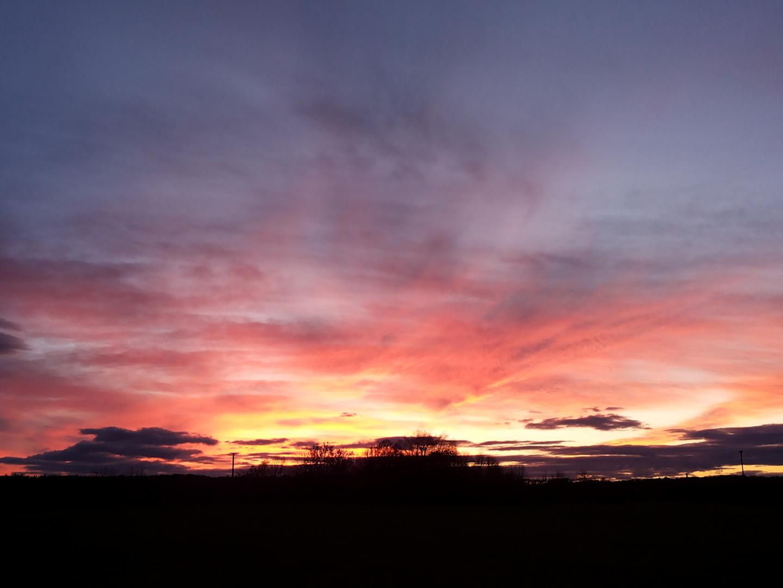 Sonnenuntergang über dem Eselsburger Tal