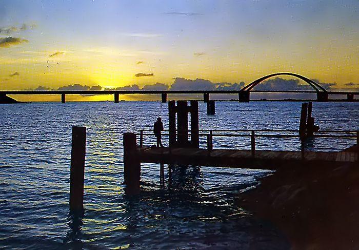 Sonnenuntergang über dem Fehmarnsund