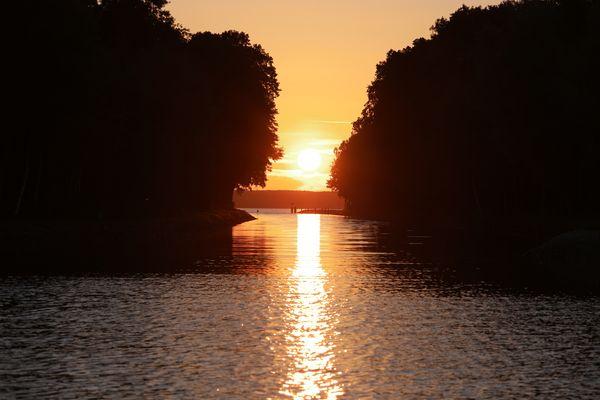 Sonnenuntergang über dem Fleesensee