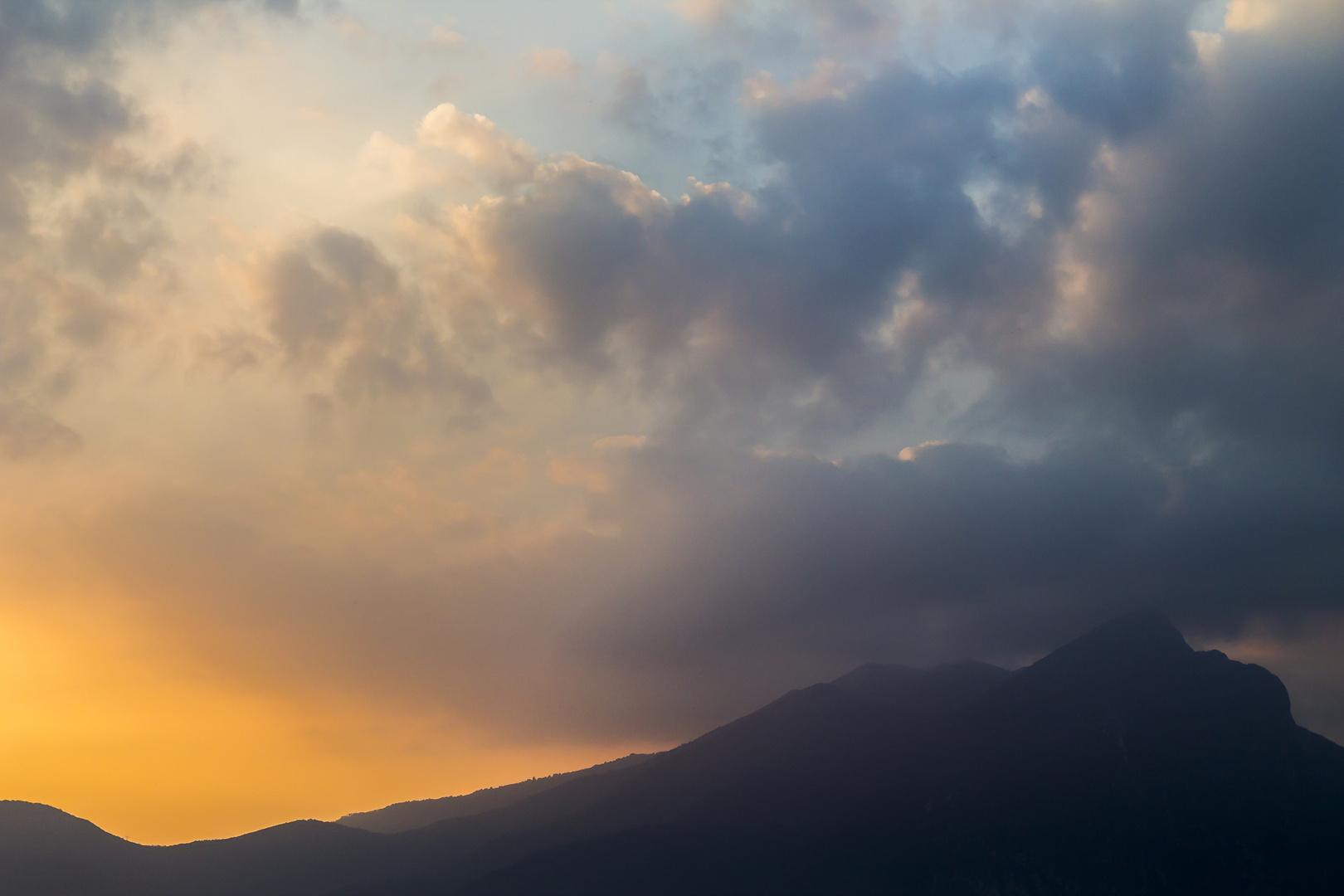 Sonnenuntergang über dem Gardasee