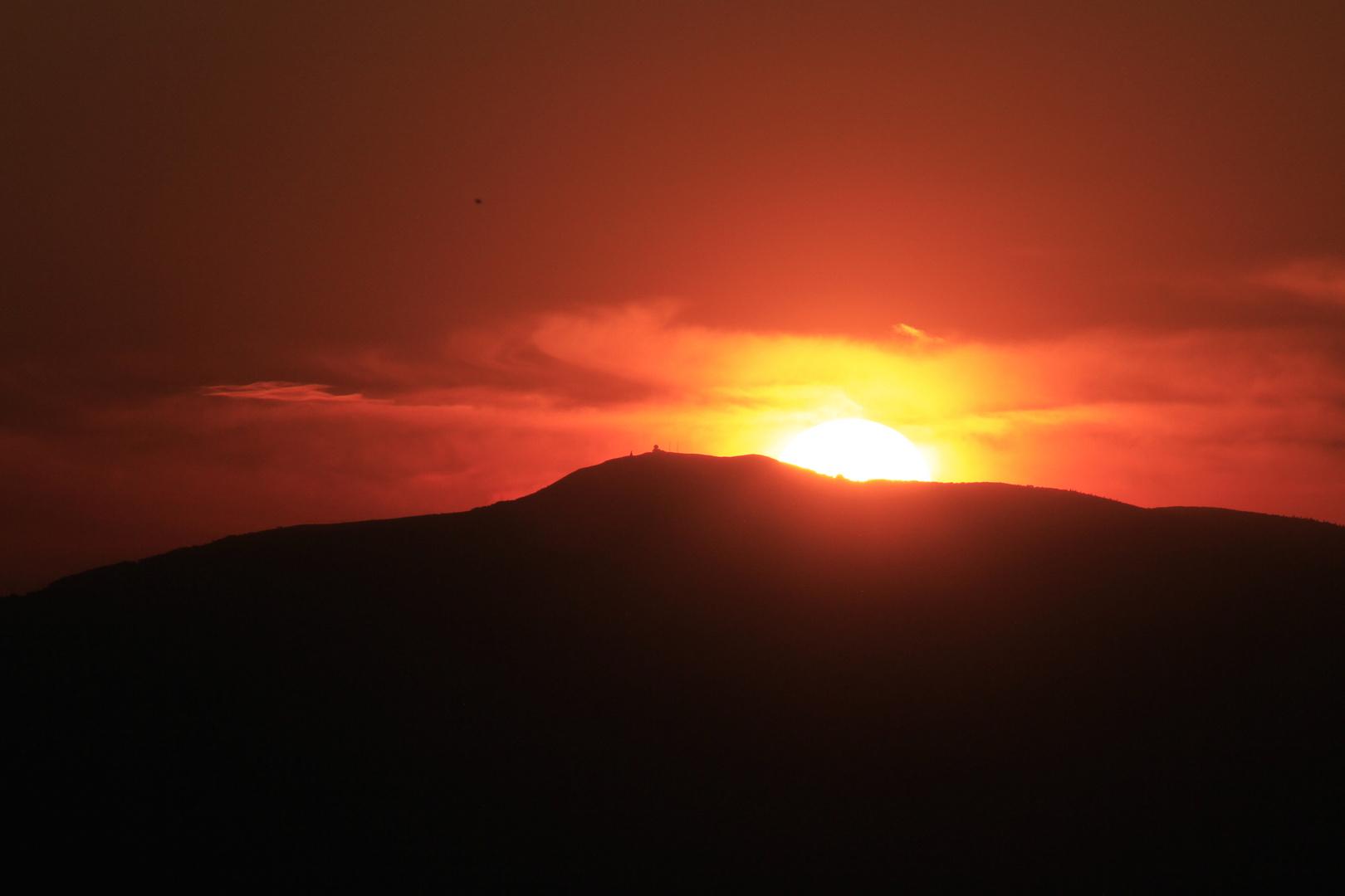 Sonnenuntergang über dem Grand Ballon d Alsace