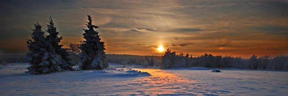 Sonnenuntergang über dem Hochmoor