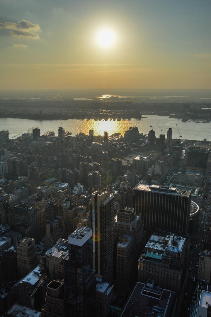 Sonnenuntergang über dem Hudson River