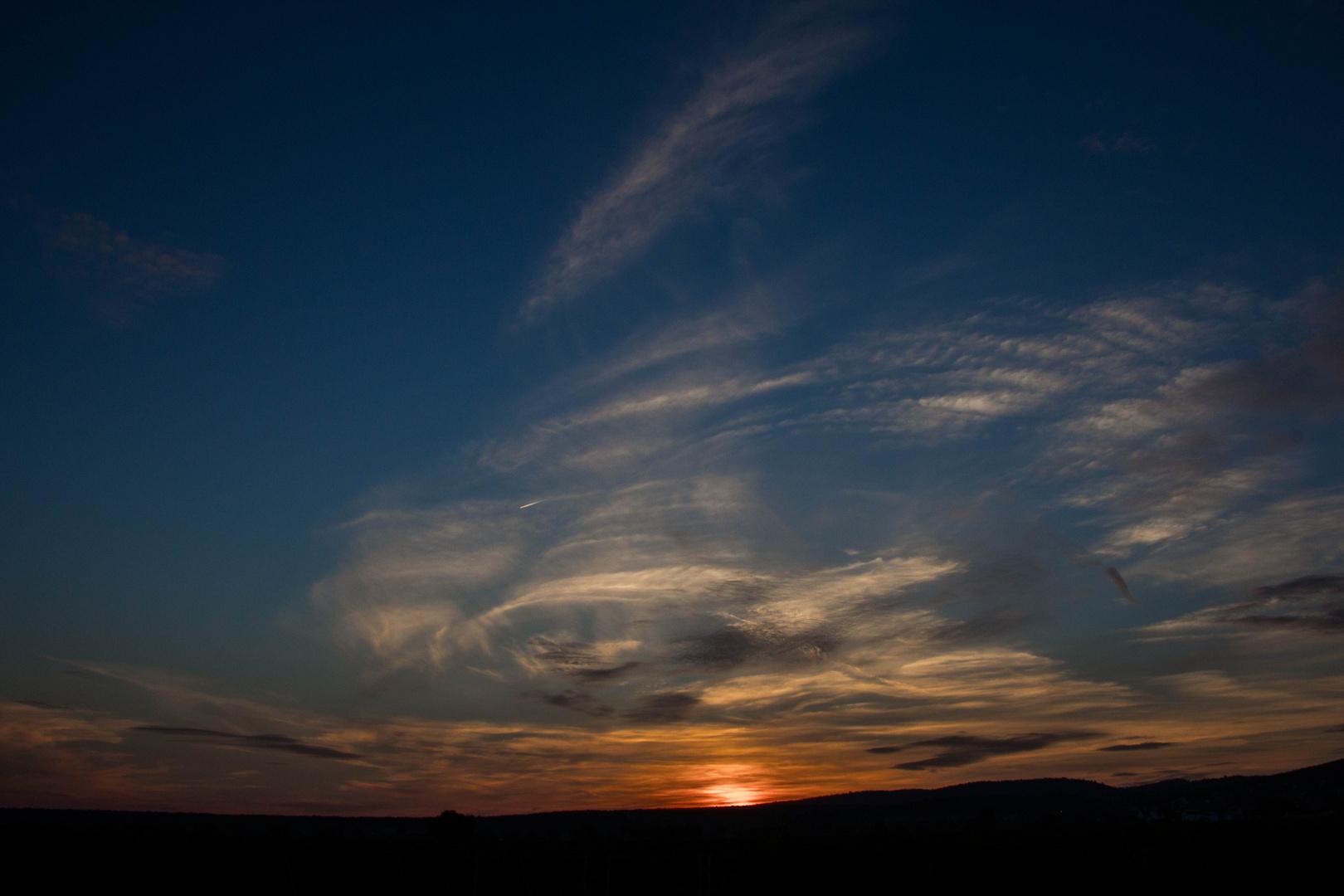 Sonnenuntergang über dem Leithagebirge