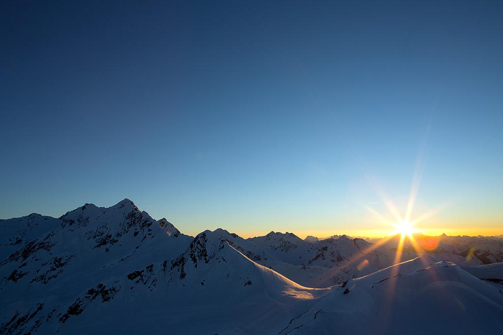 Sonnenuntergang über dem Montafon