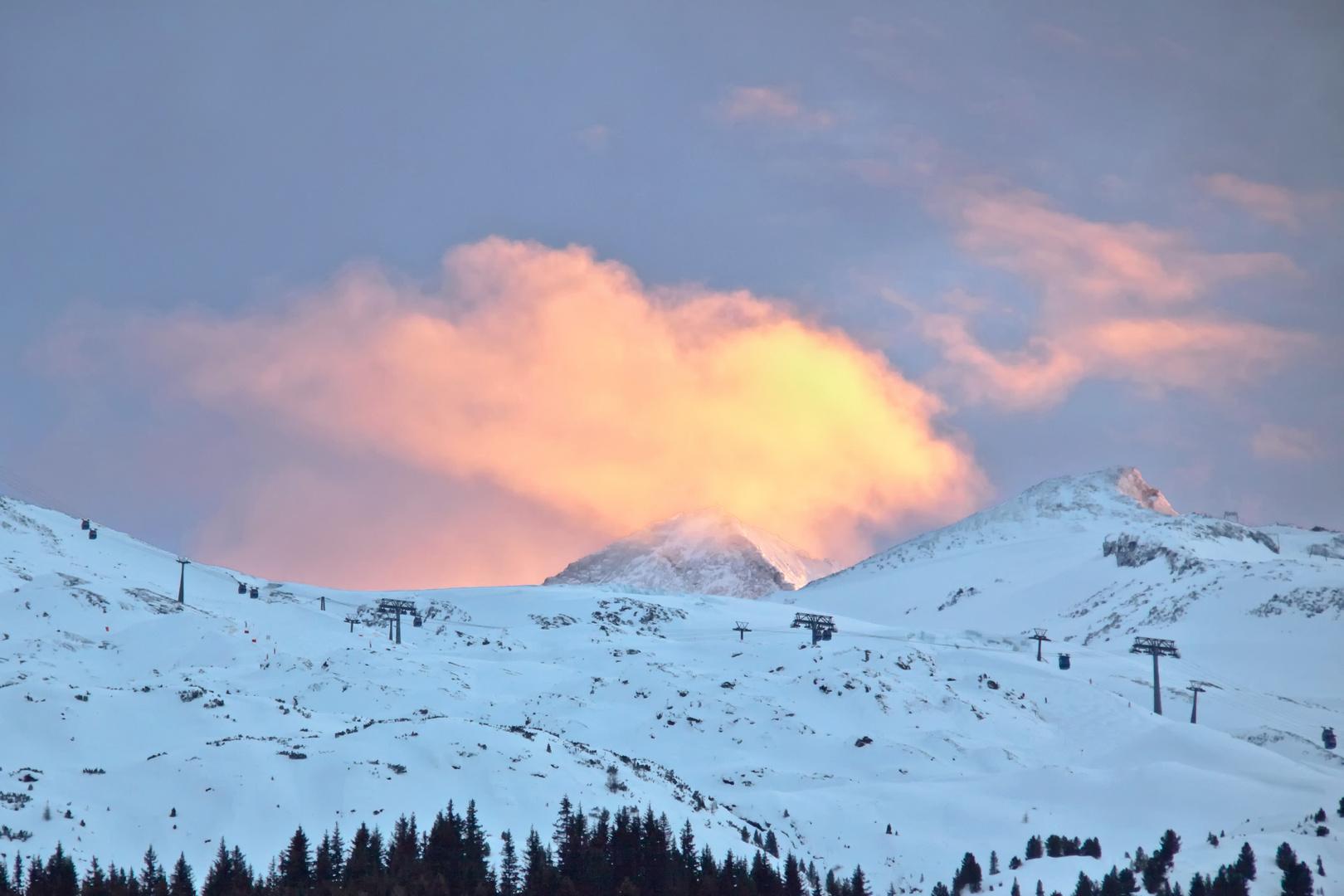 Sonnenuntergang über dem Olperer