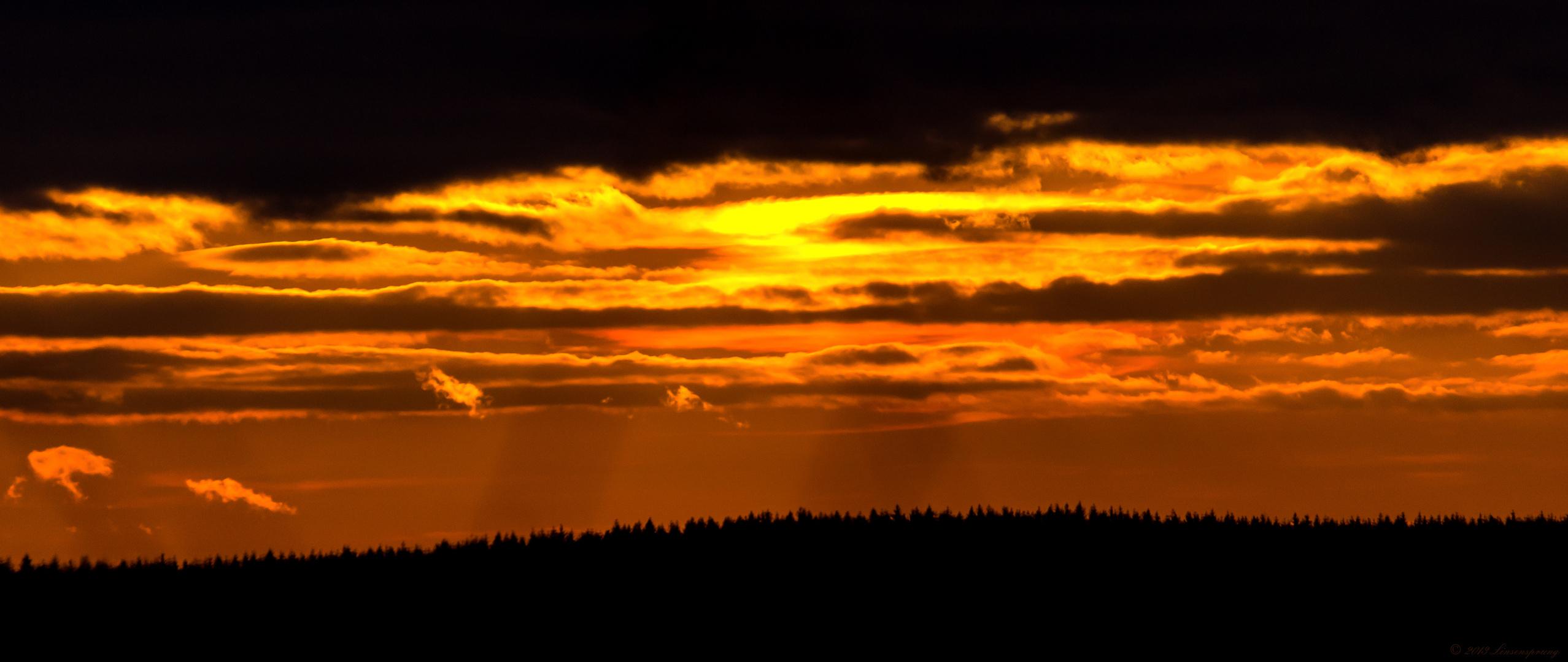 Sonnenuntergang über dem Sauerland