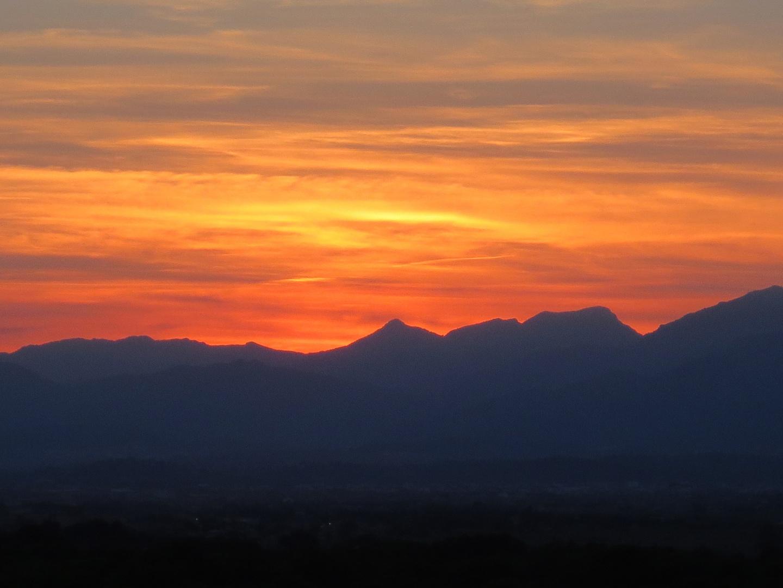 Sonnenuntergang über dem Tramuntana-Gebirge