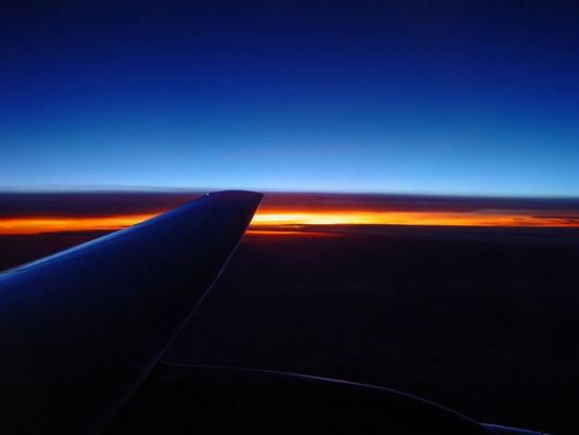 Sonnenuntergang über dem Wetter