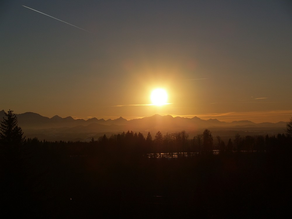 Sonnenuntergang über den Allgäuer Alpen