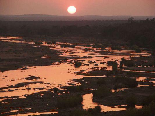Sonnenuntergang über den Olifans River