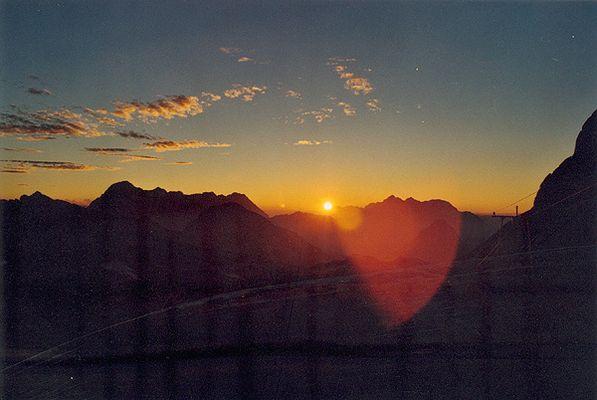 Sonnenuntergang über den Steinernen Meer