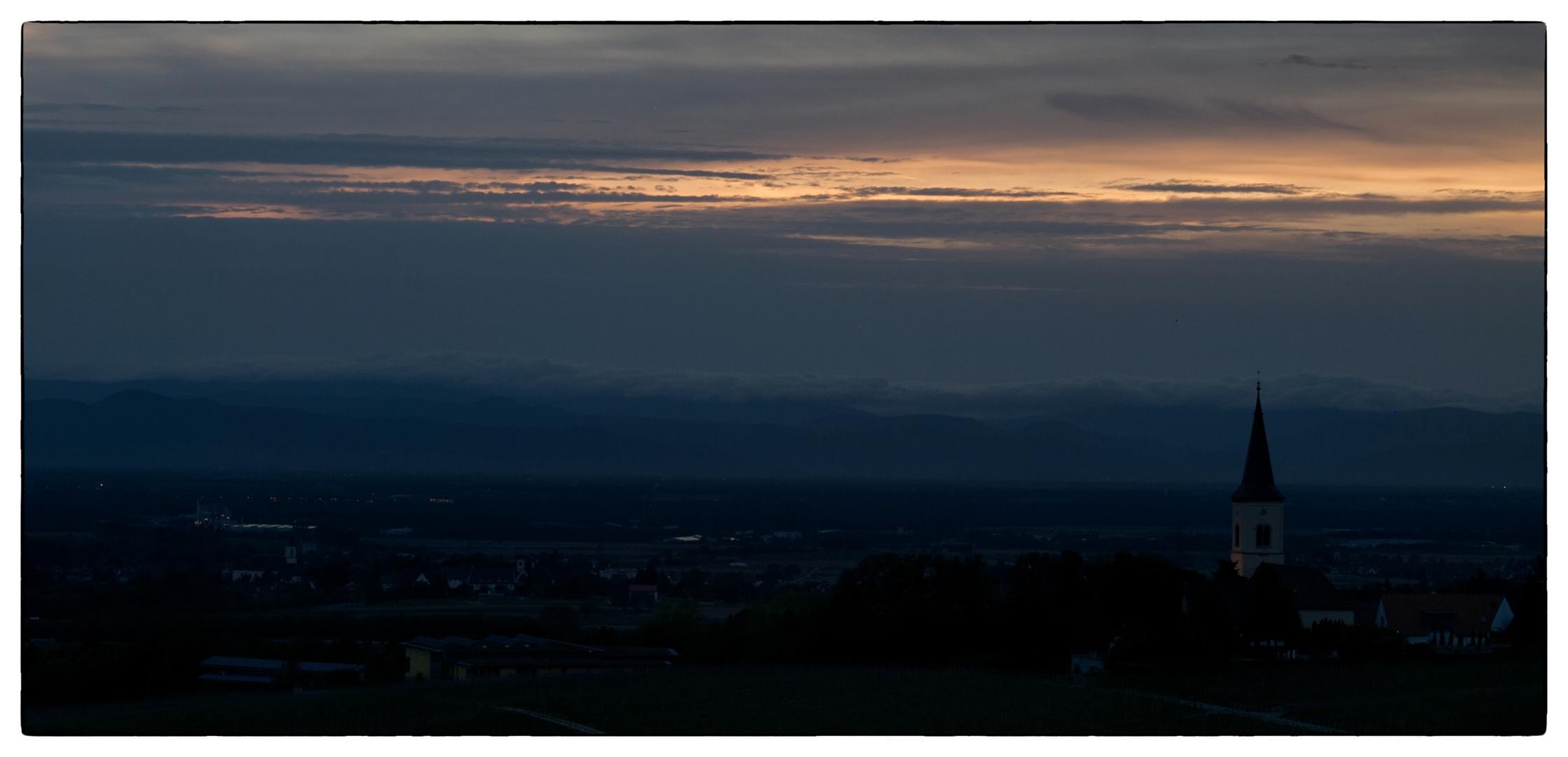 Sonnenuntergang über den Vogesen 5