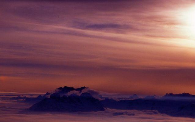 Sonnenuntergang (über den Wolken)