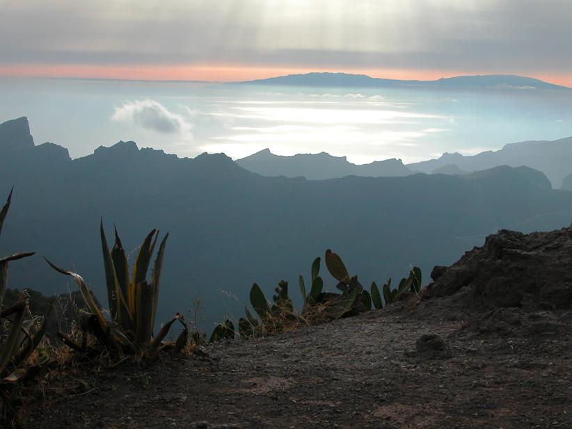 Sonnenuntergang über den Wolken von Holger W.T.