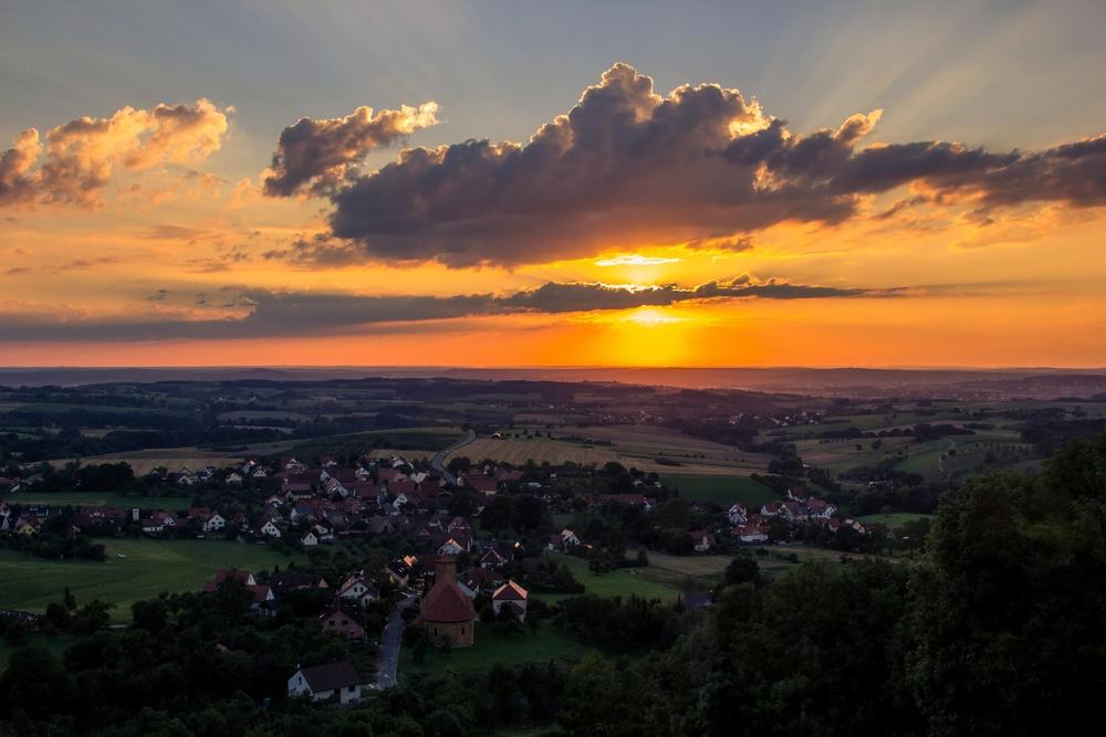 Sonnenuntergang über der Fränkischen