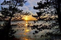 Sonnenuntergang über der Großen Breite