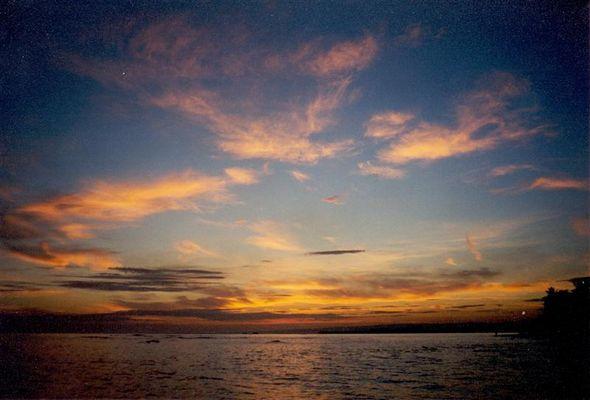 Sonnenuntergang über der karibischen See