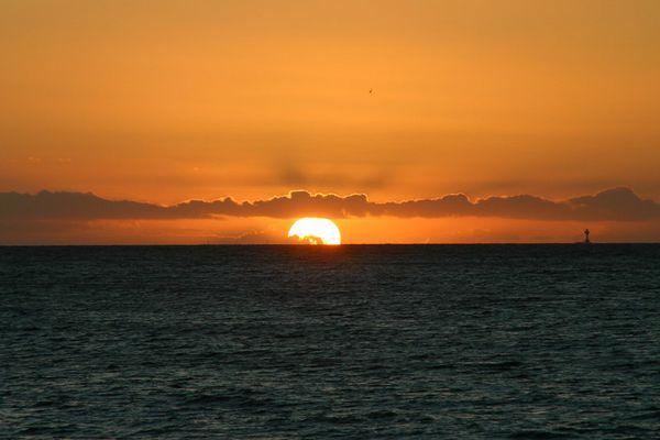 Sonnenuntergang über der Kieler Förde