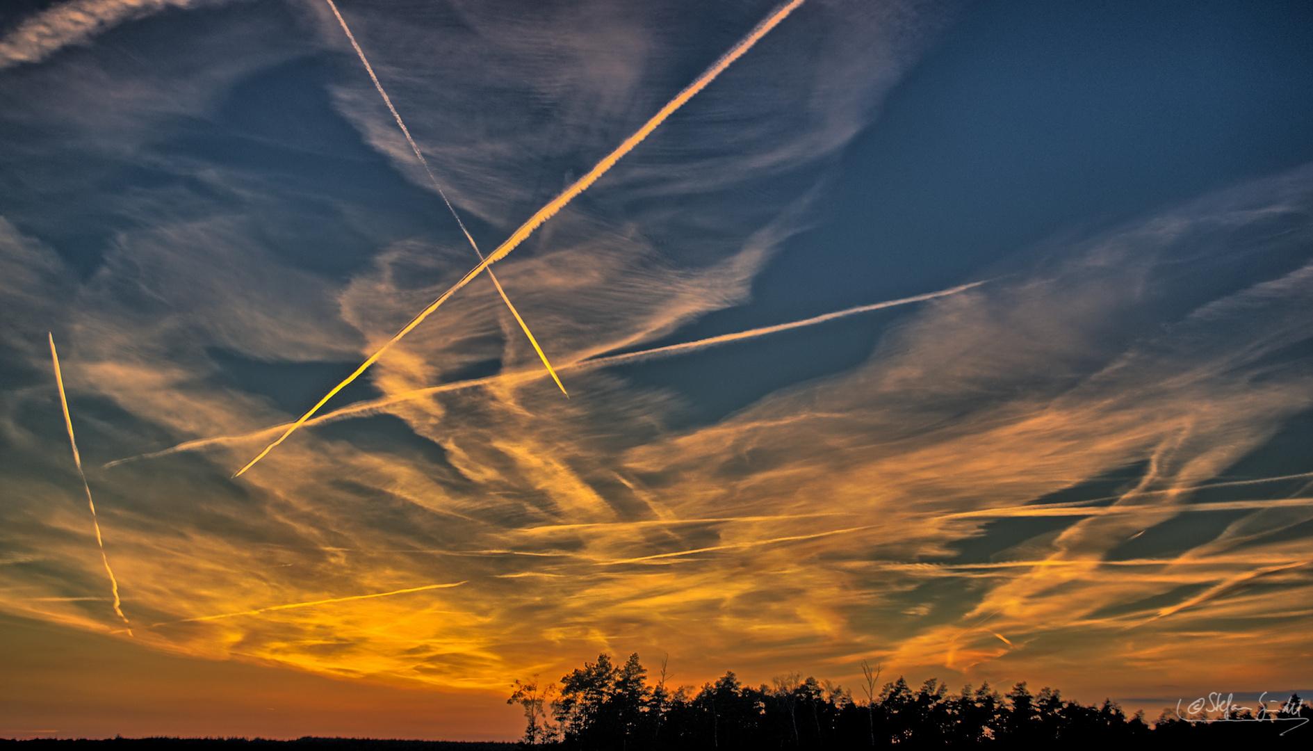 ...Sonnenuntergang über der Lausitz...