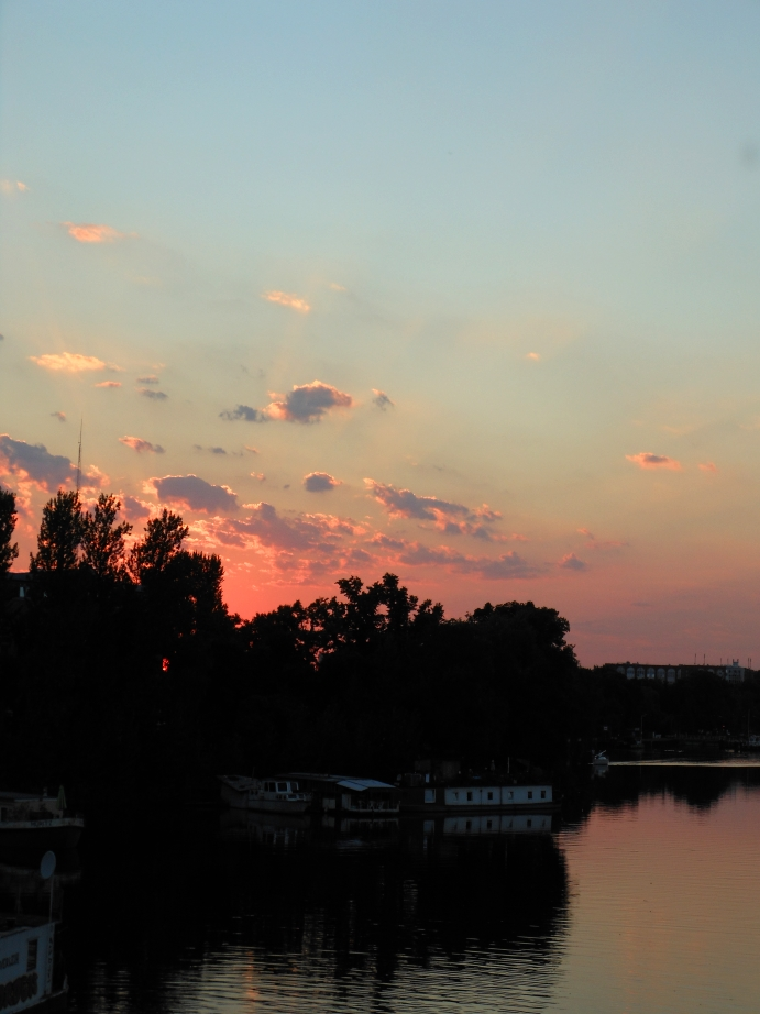 Sonnenuntergang über der Spree