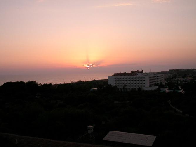 Sonnenuntergang über der Türtischen Riviera Side,10/2004