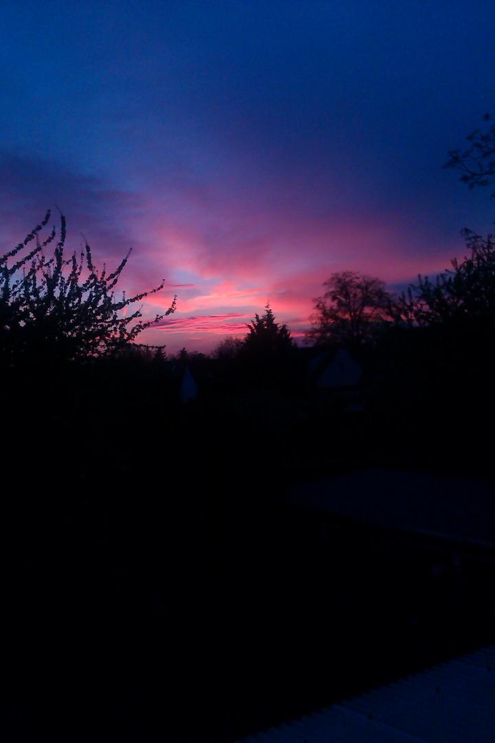 Sonnenuntergang über dessau