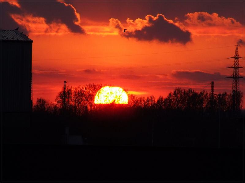 Sonnenuntergang über Dortmund