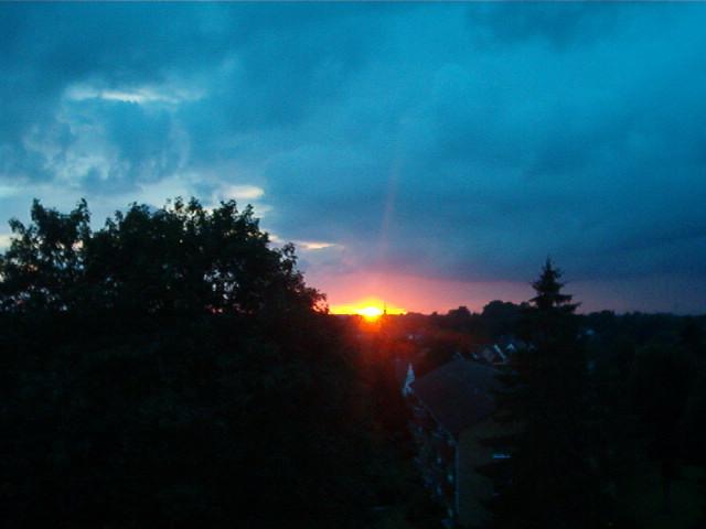 Sonnenuntergang über Elmshorn...
