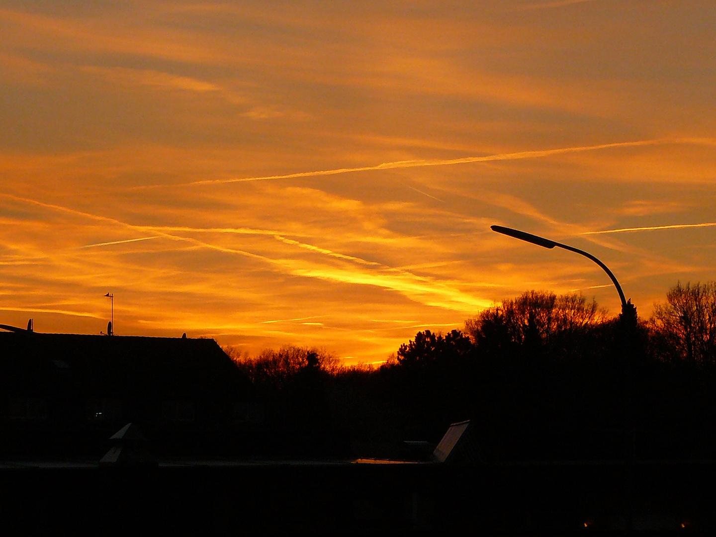 Sonnenuntergang über Erkelenz