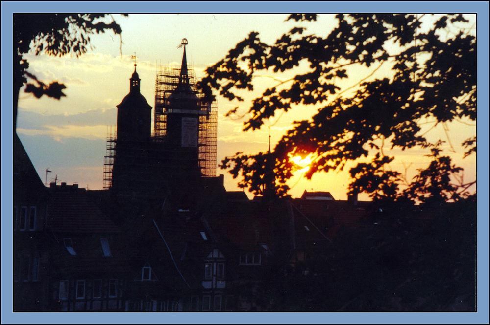 Sonnenuntergang über Göttingen 1