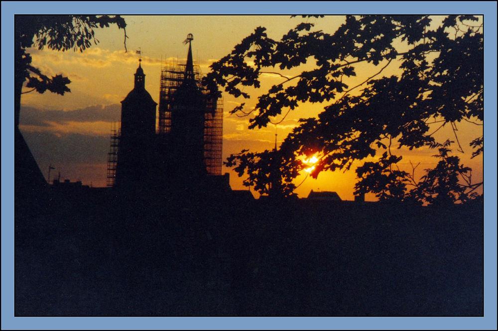 Sonnenuntergang über Göttingen 2