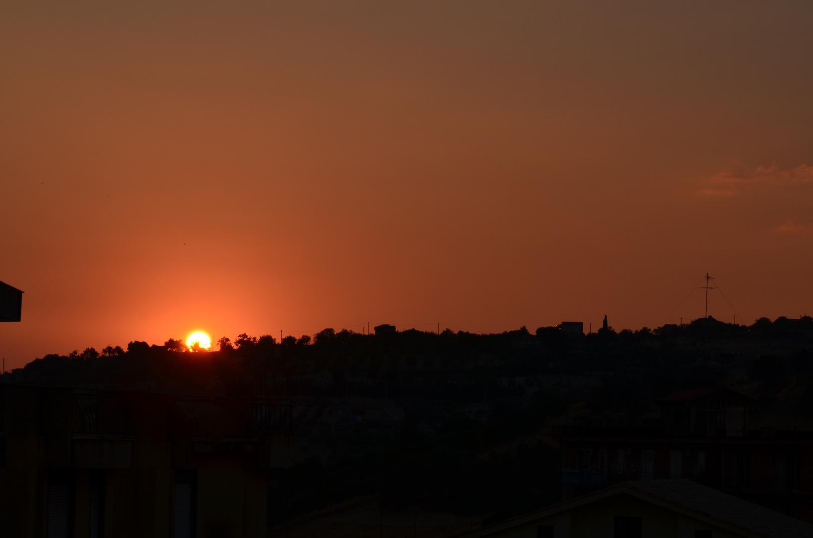 Sonnenuntergang über Grotte prov. di Agrigento