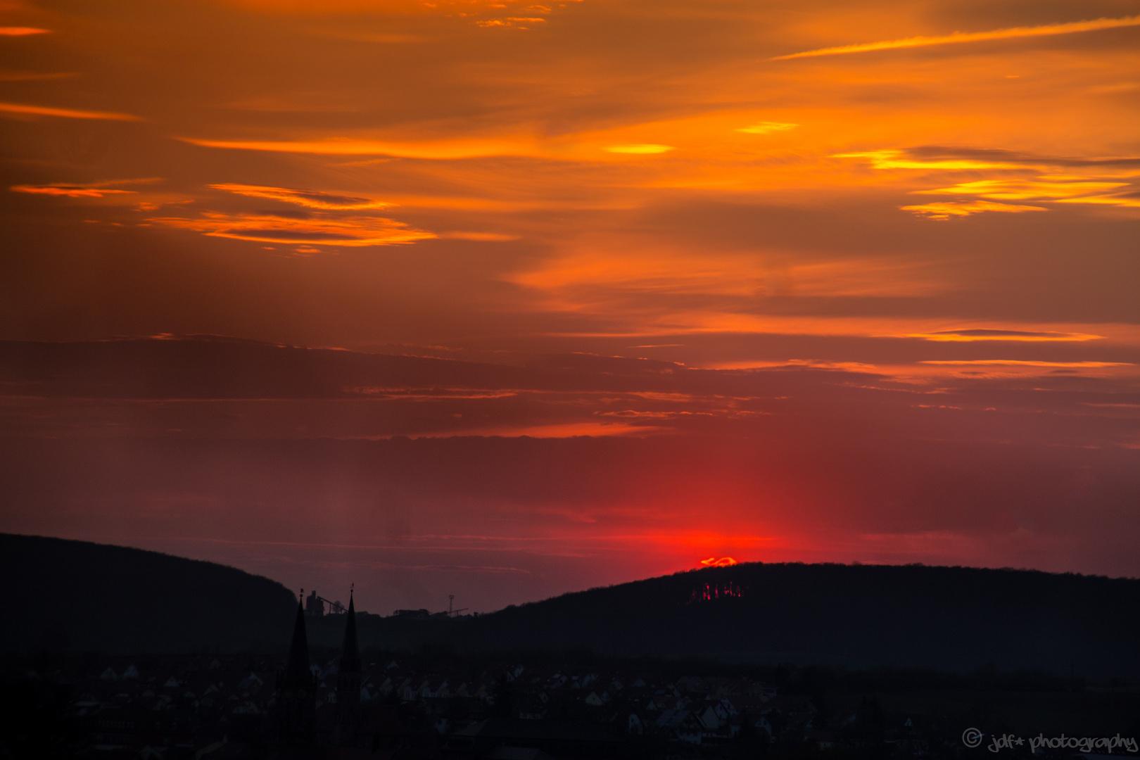 Sonnenuntergang über Heiligenstadt